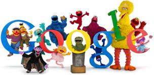 Sesame Street Ensemble Google Logo