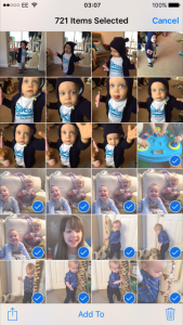 How to bulk delete multiple photos from iphone 6